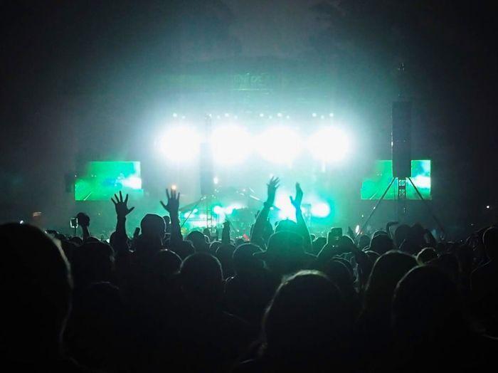 Group of people in nightclub