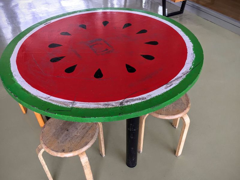 Watermelon Watermelon🍉 Table Red Green Red&green Circle