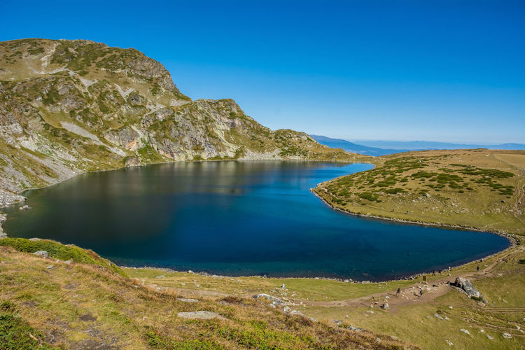 Seven Rila lakes, Bulgaria; The Kidney Бъбрека (Babreka) 2,282 m (7,487 ft) 8.5 ha (21 acres) 28.0 m (91.9 ft) Water Scenics - Nature Tranquil Scene Beauty In Nature Tranquility Sky Mountain Non-urban Scene Rock Nature Day Rock - Object No People Blue Clear Sky Idyllic Lake Solid Land Outdoors Formation Lake View Nature Nature_collection Nature Photography My Best Photo