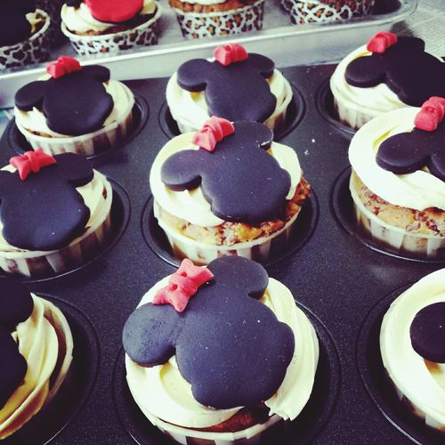Cupcakes for my nephew's Teacher's Day celebration. Minnie mouse for the girls. Minnie Mouse Cupcakes Homebaked Thebreadbakes Singapore