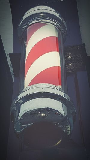 Striped No People Looking Up Barber Sign Barber Pole