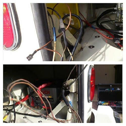 I hate wiring. Thought I would tidy up some wires, heatshrink connectits, lovely. Spent ages, only to snap a earth of the rear light, and couldn't get the side light working. Brake light works fine. Grrr! >:) Ihatewiring Anotherjobtodo