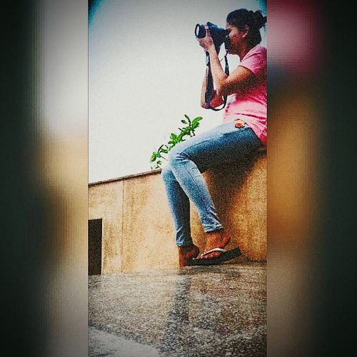 <3 Me, My Camera And I Photography Themes Photographing Casual Clothing Camera - Photographic Equipment First Eyeem Photo