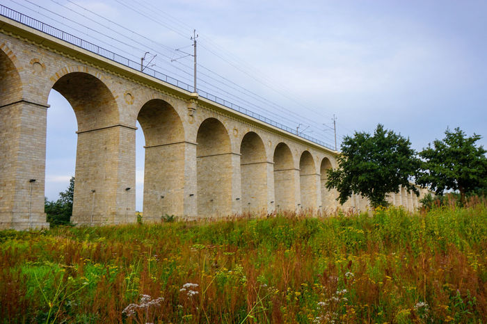 Arch Architecture Bridge Bridge - Man Made Structure Building Exterior Built Structure Connection Day Grass Growth History Nature No People Outdoors Plant Poland Sky Sony A6000 Summer Transportation Travel Destinations Tree