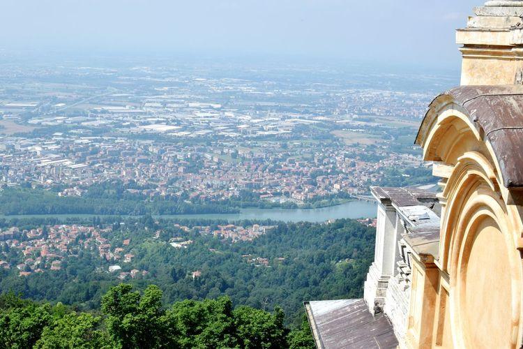 Cropped image of basilica of superga overlooking cityscape