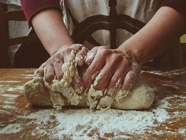 Flour One Person Human Body Part Human Hand Food And Drink Making Pizza Pizza Dough One Woman Only Indoors  Preparation  Dough Indoors  Handmade Adults Only Food Adult People Real People Kneading Bakery Occupation Working Homemade Food Place Of Heart One Step Forward Food Stories Love Yourself