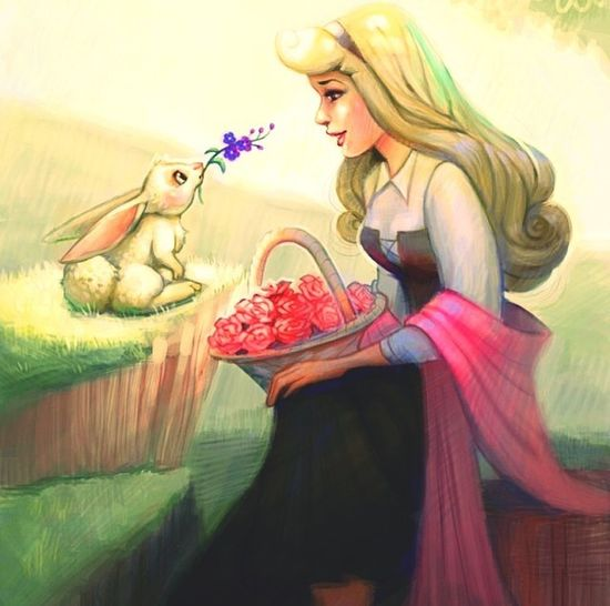 Sleeping Beauty Rabbit Disney Beautiful ❤️
