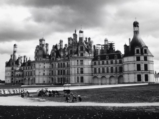 Chateau De Chambord in the Loire Valley. Sightseeing Blackandwhite Being A Tourist