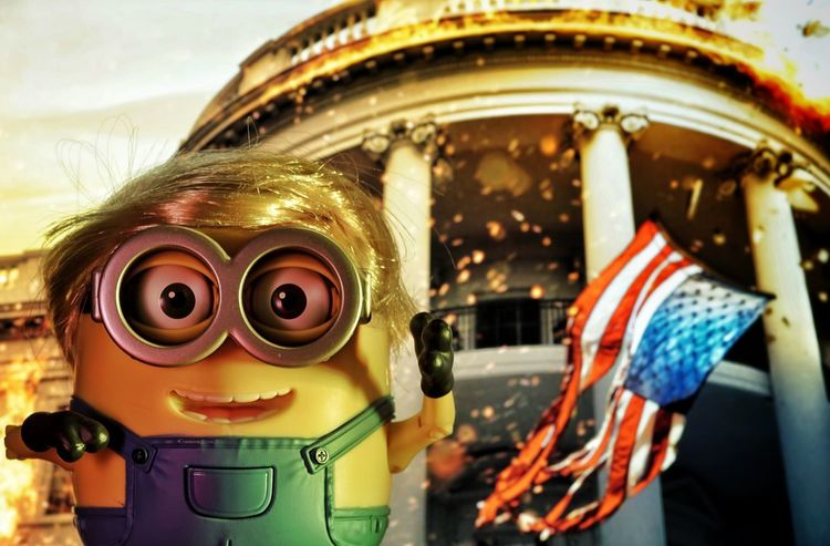 Billions of Minions... (Background from the movie OLYMPUS HAS FALLEN) Toyphotography Toy Photography Figuarts Figuart Toys Studio Photography Minions Characters Minions ♥♥ Minionsworld Minions ™ Fun Smiling Minion Love Trump Protest