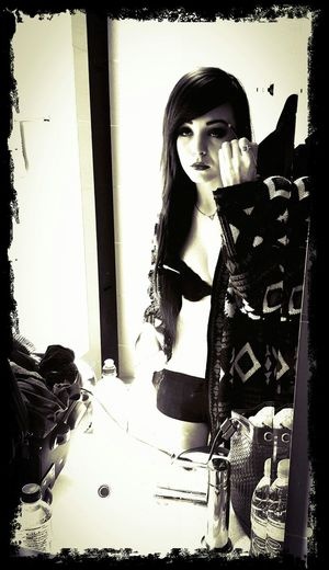 My gorgeous fiance getting ready for her shoot... Love you!