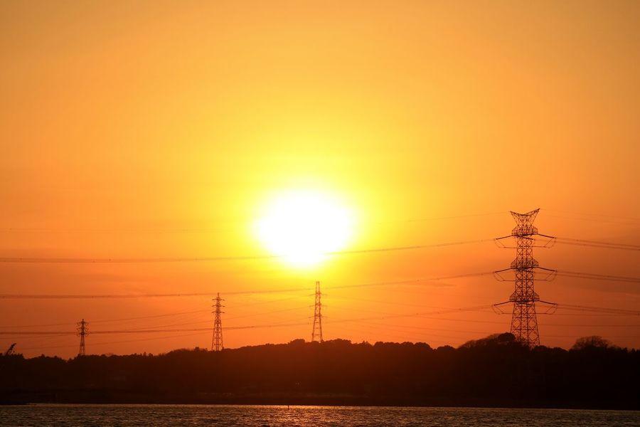 Sunset Sun Orange Color Dramatic Sky Tower Japan Orangesky Sunset_collection Water Highvoltage Sunsets