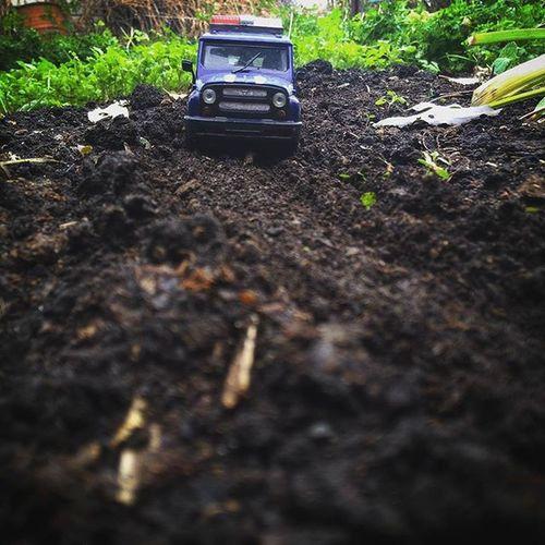 набережныечелны Осень2015 октябрь наПрироде бездорожье зелень  земля надаче дачастайл уаз уазик впути игрушка автомобиль машинка Asuspadfones Avto UAZ Inchelny