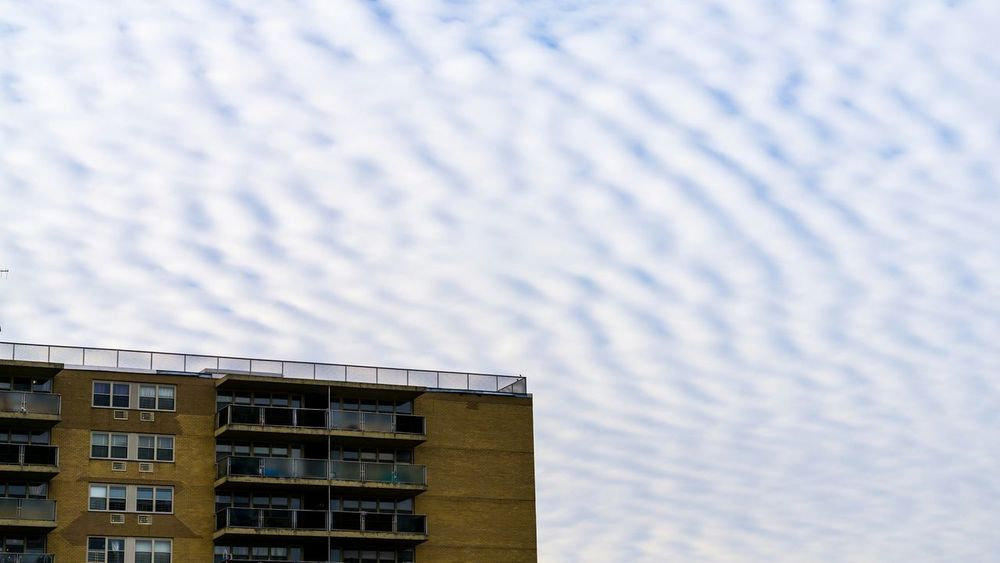 Cloudy Striations. Looking Up Apartments Terraces Mostly Cloudy Striations Patterns Sony A6000 Project365