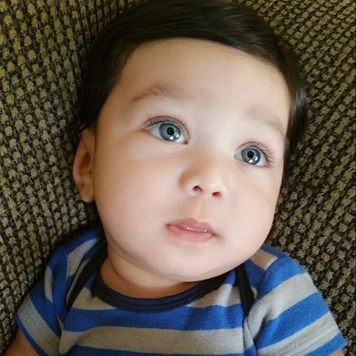 He looks good in blue! Danieljr Babyboy BlueEyes Handsome My_handsome_baby