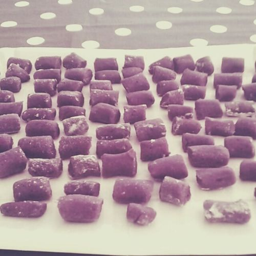 Relaxing Cheese! Gnocchi Purplepotatoes Paris Handmade Patateviola Cooking At Home Pastryparttime First Eyeem Photo