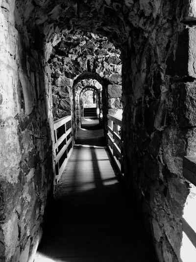 The Way Forward Built Structure Arch Architecture Day Tunnel No People Indoors  Tree Travel Photography Black And White EyeEmNewHere Soumenlinna Old Fortress