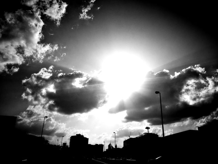 Cloud - Sky Low Angle View Nature No People Sky Sun Sunbeam Sunlight Sunset Welcome To Black