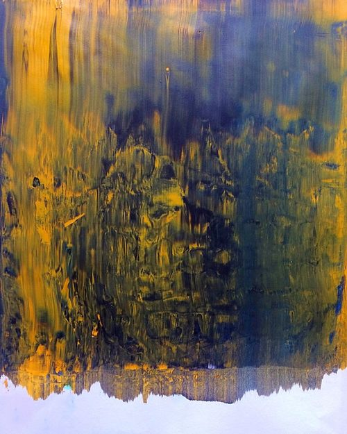 A picture of one of my paintings | Embers Paintings First Eyeem Photo Newcomer  Acrylic Painting Yellow And Black