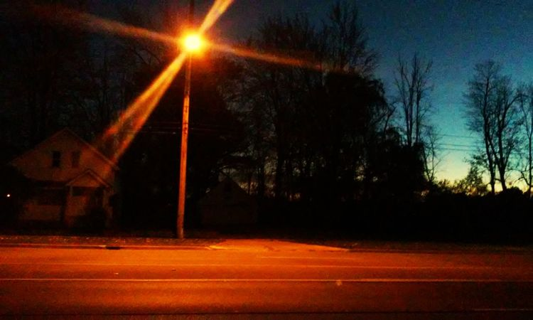 Night Road Street Light My Smartphone Life