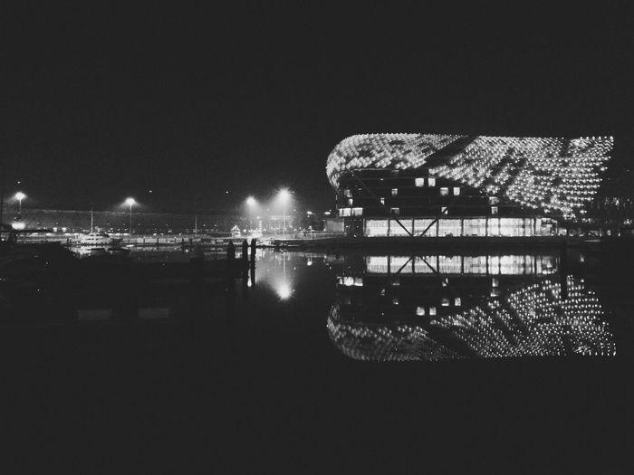 Architecture F1 Formua Illuminated Outdoors Reflection Water Yas Island Yas Marina Circuit