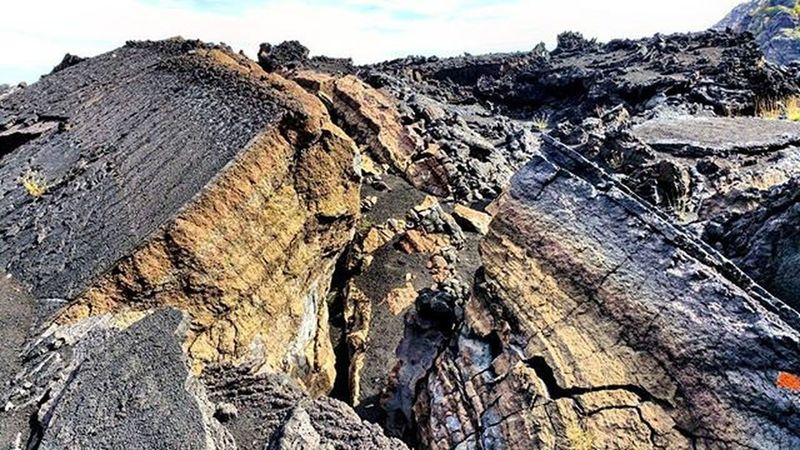 Solid magma ...Bove valley!How the magma collapsed so far. Etna...excursion..panoramic! Italy Sicily Catania Etna Mountain Volcano Excursion Great day Panoramic 180degrees Relax Stopnoises Wild Greatday Nature Nature lovers Downhill Trekking Awesomeplaces Green Trees Magma Collapsed Years