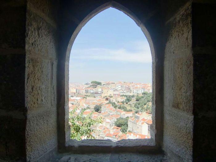 Castelo St.Jorgue Lisboa Castillo Ventana Lisboa Sant Jorge
