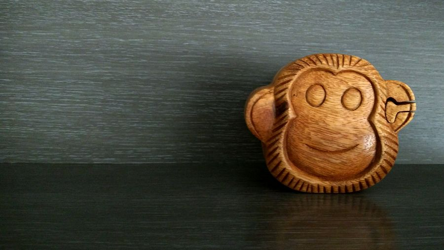 Wooden monkey box Monkey Face Wood - Material Wooden Texture Gift Box Gift Wood Texture Wood Box Wooden Box Wood Puzzle Wooden Puzzle Puzzle