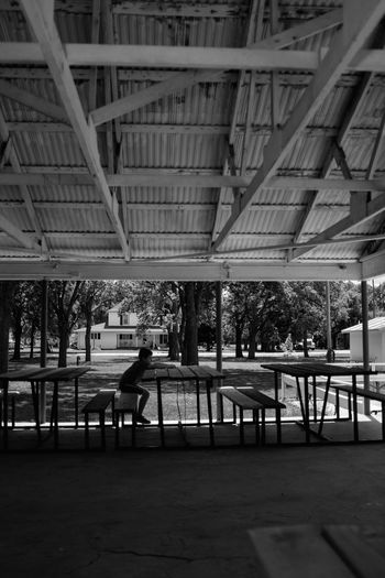 Visual Journal August 2017 Village of Western, Nebraska Camera Work Everyday Lives EyeEm Best Shots FUJIFILM X100S Gazebo At The Park Photo Essay Storytelling Summertime Visual Journal Always Taking Photos Architecture B&w Built Structure Day Full Length Indoors  Leisure Activity Lifestyles Men Monochrome Monochrome Photography One Person Park - Man Made Space People Photo Diary Picnic Table Real People Small Town Stories Women