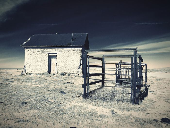 """""""Mystery Ranch No. 17"""" The Bunkhouse. New Mexico Photography New Mexico Skies New Mexico Cattle Ranch Abandoned Buildings Abandoned Places Abandoned Bunkhouse No People Built Structure Outdoors Sky Architecture"""