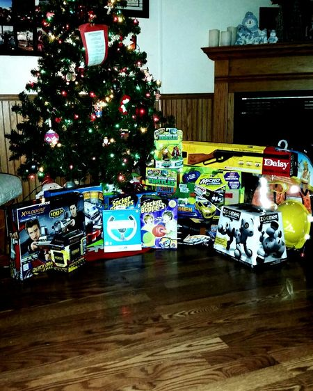 Not even nealry half of joshua's christmas. Theses have to be wrap and then santa wi bring the big things. :) more shopping tomorrow!