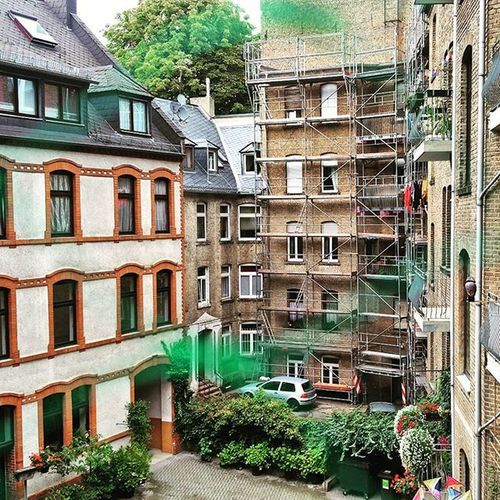 Wiesbaden backyard.