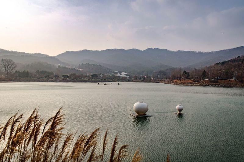Sky Water Beauty In Nature Lake Cloud - Sky Bone China korea's autumn Pottery Lake