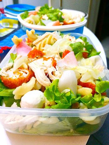Perfect dinner Picnic Time ♡ Lunchforwork Salad Mozarella Chiken Pasta Healthy Food Healthylife Touparachefdoanocj