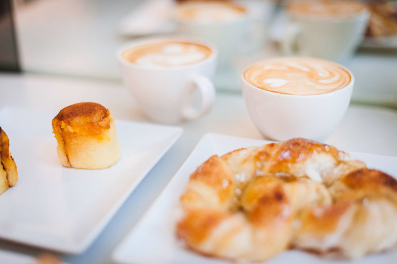 Breakfast Cafe Coffee Coffee And Sweets Coffee Break Coffee Cup Coffee Shop Coffee Time Cup Drink Focus On Foreground Frothy Drink Latte Latteart Morning Pastry Refreshment Saucer Selective Focus Up Close