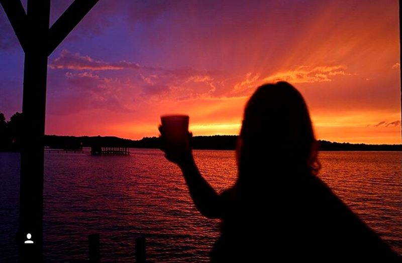 The Parting Glass Silhouette Beauty In Nature Sky Parting Glass LakeWater Orange Color Scenics Perspectives On Nature