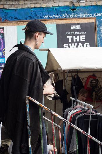 Full length of man standing at market
