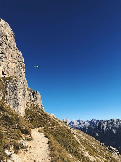 paragliders Sky Scenics - Nature Blue Mountain Nature Beauty In Nature Land Clear Sky Day Outdoors Sunlight