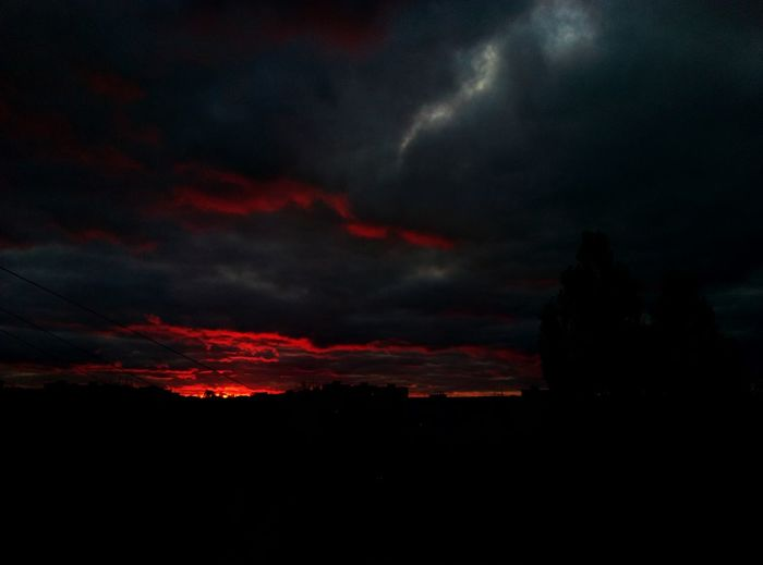 Dramatic Sky Nature Beauty In Nature Night Scenics No People Outdoors Thunderstorm Tranquility Sunset BLOODYSky Power In Nature