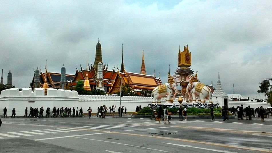 Architecture Building Exterior Built Structure Cloud - Sky Day No People Outdoors Sky Spirituality Statue Travel Destinations Wat Phra Kaew วัดพระศรีรัตนศาสดาราม
