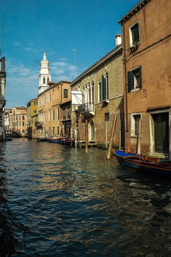 Venice - March 2015 Canal Europe Italy Venice Architecture Building Exterior Built Structure Canal Waterfront Day Nautical Vessel Transportation Sky Water Outdoors City Gondola - Traditional Boat