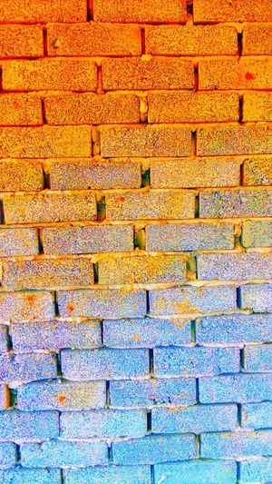 Colourful brick wall Full Frame Backgrounds Pattern Day No People Close-up Outdoors
