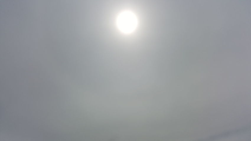 Gray Sun Shiny Backgrounds Space Day No People Hazey Haze Cloud