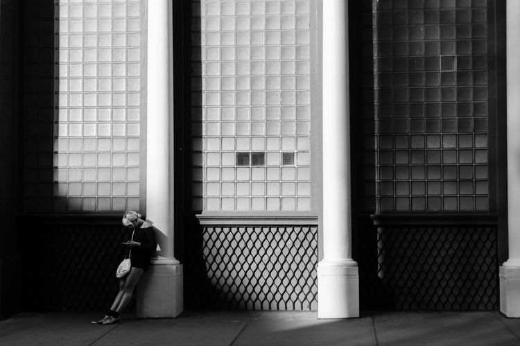 Absence Alone Architecture Blackandwhite Building Exterior Comfortable EyeEm In NYC 2015 Pattern Streetphoto_bw Streetphotography Transparent Window Battle Of The Cities Monochrome Photography The Street Photographer - 2018 EyeEm Awards