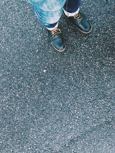 Just feet. Shoe