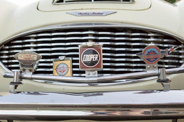 Transportation Mode Of Transport Summer Land Vehicle Close-up Communication Classic Car Austin Healey Transportation Day Cooper Badges Grill