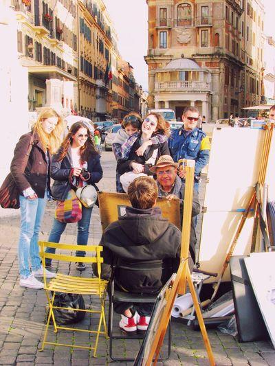 Hello World Walking Around Street Photography 4YearsAgo Travel HappyPeople Romantic Rome Italy