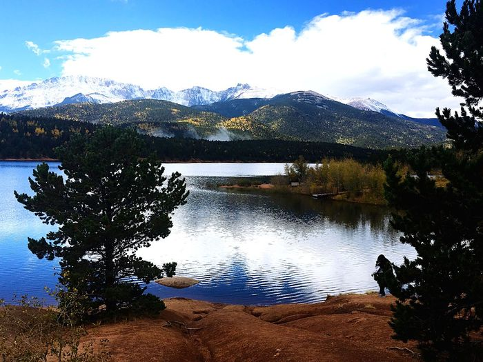 Mountain Lake Mountain Range Nature Scenics Beauty In Nature Sky Tranquil Scene Water No People Day Cloud - Sky Outdoors Landscape Snow Tree Tranquility Reflection