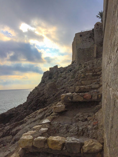 Cliff Cloudy Historic Fort History Outdoors Rock Formation Rocky Pathway Sea Sky Stone Material Tourism