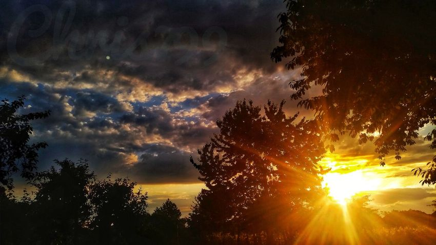 Blue Sky And Clouds Sunlight Sunbeam Light And Shadow Dawn Dawn Of A New Day Sunrise And Clouds Clouds And Sky Astronomy Tree Sunset Galaxy Multi Colored Milky Way Awe Silhouette Sun Red Space And Astronomy Forked Lightning Thunderstorm Storm Cloud