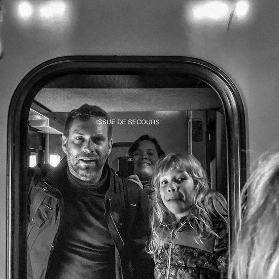 TGV Family Portrait 😀💕 Photooftheday Reflection Togetherness Looking At Camera Transportation Massy End of Holidays IleDeFrance France Moment EyeEm IPhoneography Bnwmood Bnw Blackandwhite Mobilephotography IPhoneography Iphonephotography Iphoneonly Outofthephone Streetphotography Snapseed The Portraitist - 2017 EyeEm Awards
